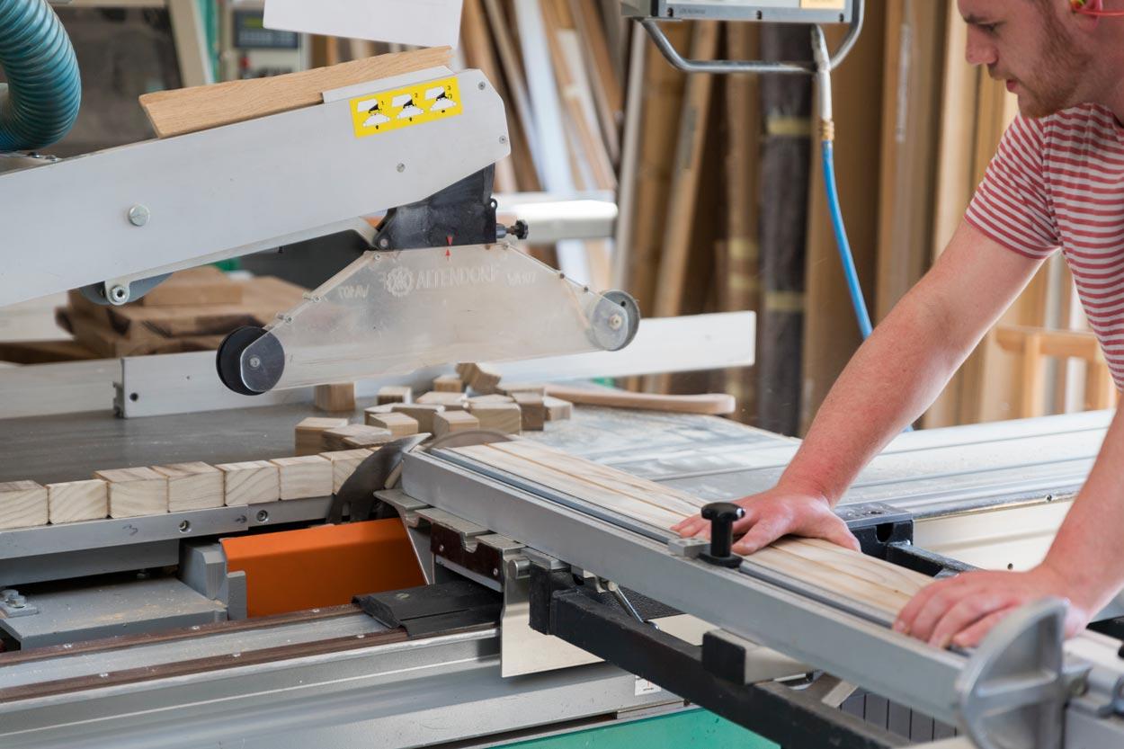 Maßarbeit in der Tischlerei Paepcke